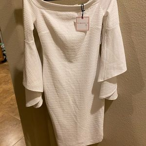 BRAND NEW white Bisou Bisou dress